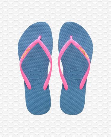Havaianas Slim Logo - Flip Flops - Blau - Damen