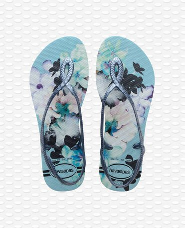 Havaianas Luna Print - Blue acqua - Sandals - Women