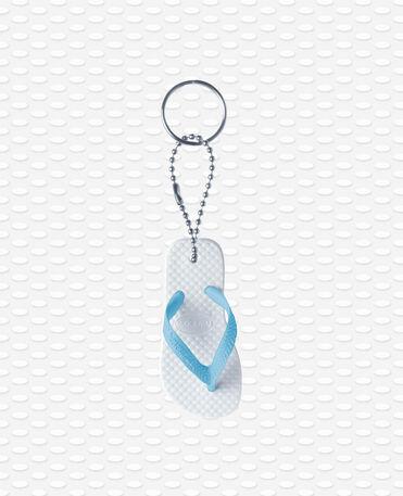 Havaianas Keyring - White/blue - Keyring flip flop shape