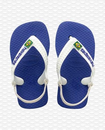 Havaianas Baby Brasil Logo II - Tongs - Bleu marine - Enfants