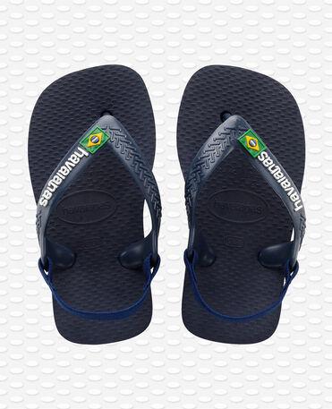 Havaianas Baby Brasil Logo II - Infradito - Blu navy / giallo agrume - Bambini