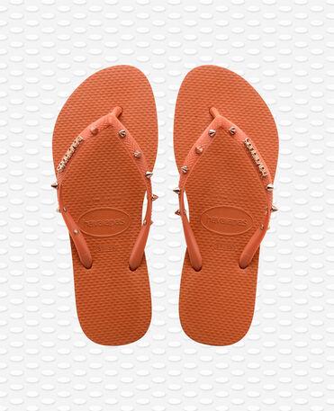 Havaianas Slim Hardware - Tongs - Orange Bronze - Femme
