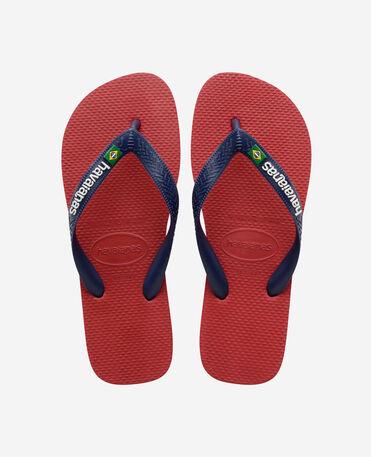Havaianas Brasil Logo - flip-flops - RED - unisex