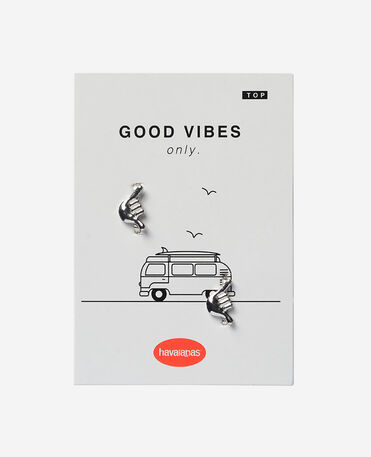 Havaianas Charms Top Good Vibes Silver - SILVER1 - female