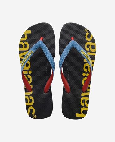 Havaianas Top Logomania Hightech - flip-flops - BLACK - unisex