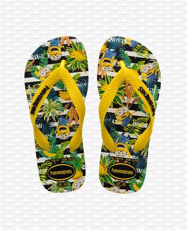 Havaianas Minions - Flip Flops - weiß / zitronengelb - Kinder