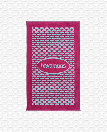 Havaianas Bicolor Velvet Logo Towel - Handtuch - Rosa Pitaya