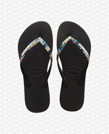 Havaianas Slim Strapped - Black Flip flops Women