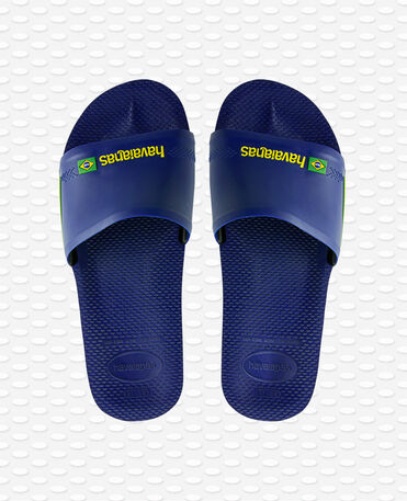 Havaianas Slide Brasil - Navy Blue - Flip flops - Men