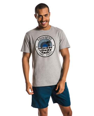 HAVAIANAS T-SHIRT FRONT ROUND LOGO