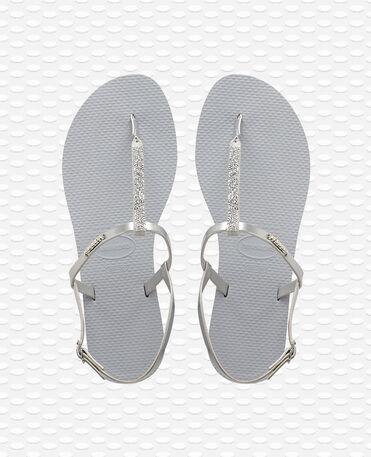 Havaianas You Riviera Crystal - Steel Grey / Steel Grey - Flip Flops - Women