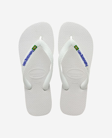 Havaianas Brasil Logo - flip-flops - WHITE - unisex