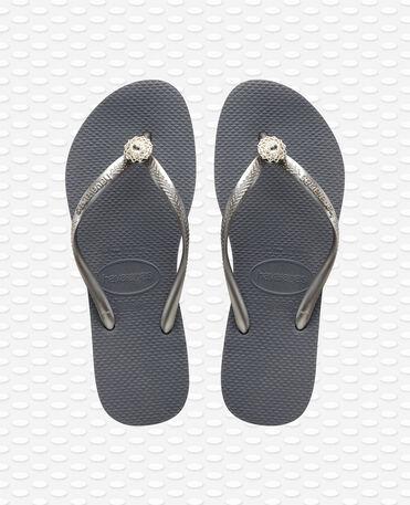 Havaianas Slim Crystal Poem - Steel Grey / Grey - Flip Flops - Women