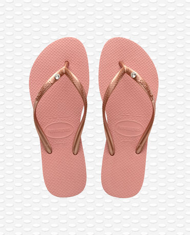 Havaianas Slim Crystal Glamour SW - Infradito - Rose Nude - Donna