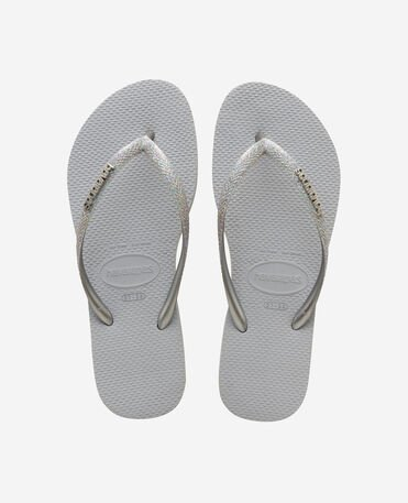 Havaianas Slim Glitter II - flip-flops - ICE GREY - mujer