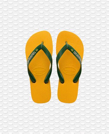 Havaianas Brasil Logo - flip-flops - BANANA YELLOW - unisex
