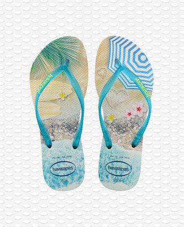 Havaianas Slim Paisage - Beige / Turquoise - Flip Flops - Women