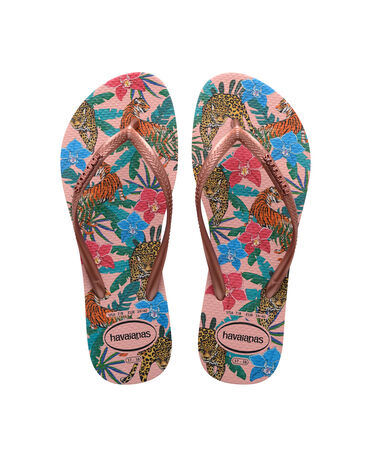 Havaianas Slim Tropical - flip-flops - BALLET ROSE/PINK RETRO METALLIC - unisex