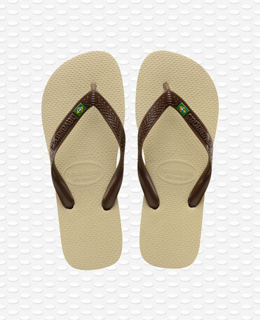 Havaianas Brasil - Sand Grey/Dark Brown - Flip Flop - Women