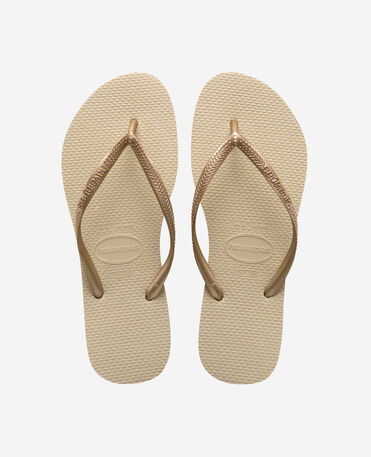 Havaianas Slim - flip-flops - SAND GREY/LIGHT GOLDEN - female