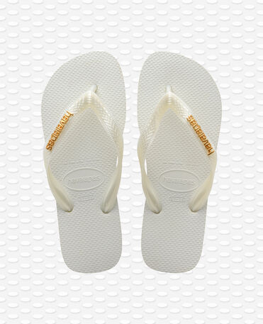 Havaianas Logo Metallic - Chinelos - Branco - Mulher