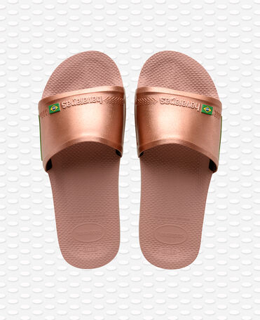 Havaianas Slide Brasil - flip-flops - CROCUS ROSE/GLODEN BLUSH - unisex