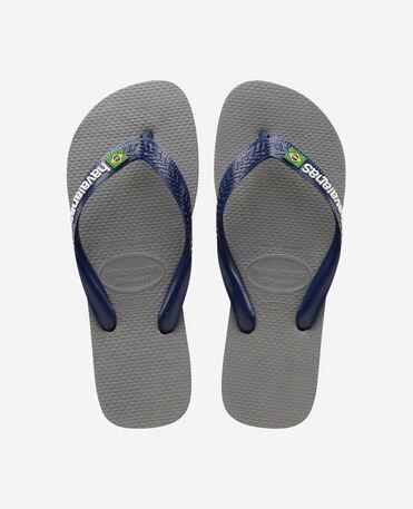 Havaianas Brasil Logo - flip-flops - STEEL GREY/NAVY BLUE - unisex