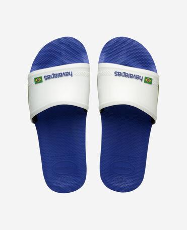 Havaianas Slide Brasil - flip-flops - MARINE BLUE/WHITE - female