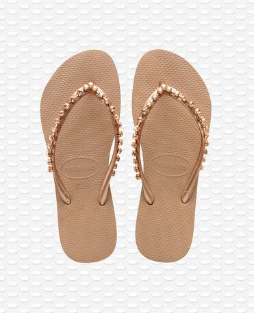 Havaianas Slim Rock Mesh - Flip Flops - Roségold - Damen