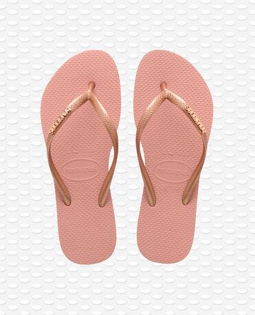 Havaianas Slim Logo Metallic - Rose Nude / Rose Gold - Flip Flops - Women