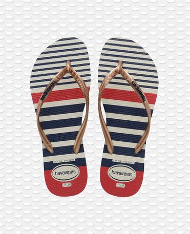 Havaianas Slim Nautical - flip-flops - GOLD - mujer