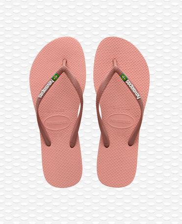 Havaianas Slim Brasil Logo - Pink Flip flops Women