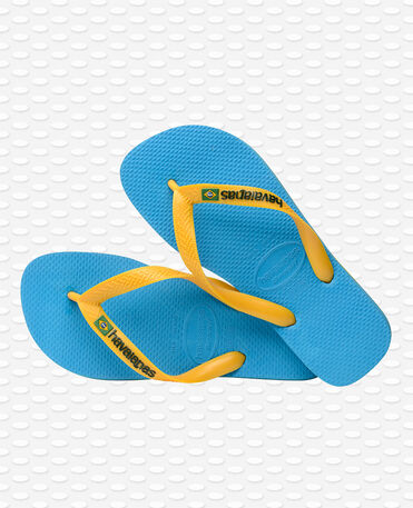 Havaianas Brasil Logo - Tongs - Turquoise / jaune agrume