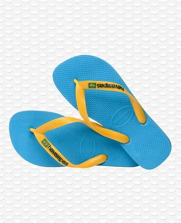 Havaianas Brasil Logo - Chanclas - Turquesa / amarillo cítrico