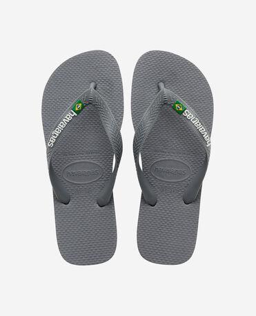 Havaianas Brasil Logo - flip-flops - STEEL GREY/STEEL GREY - unisex