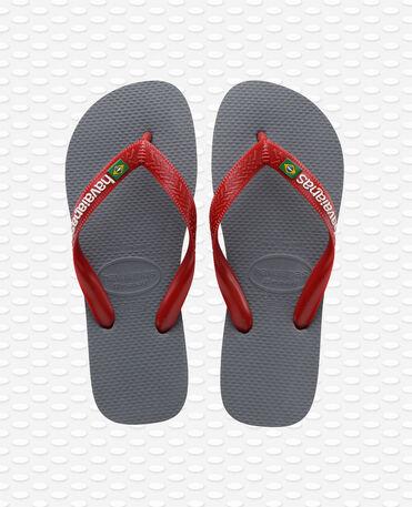 Havaianas Brasil Logo - Infradito - Grigio acciaio / rosso