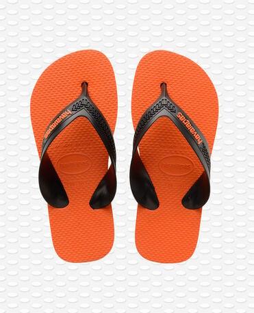 Havaianas Kids Max - steel grey/neon orange - Flip flops - Kids