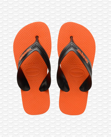 Havaianas Kids Max - Infradito - grigio acciaio / arancio neon - Bambini