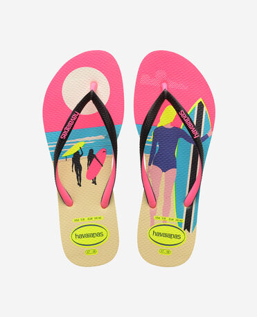 Havaianas Slim Style Mix - flip-flops - LEMON YELLOW - mujer