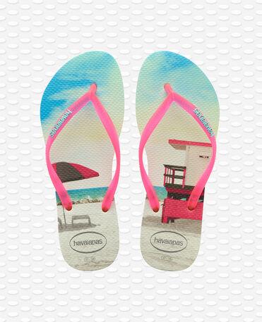 Havaianas Slim Paisage - Flip Flops - Apfelgrün - Damen
