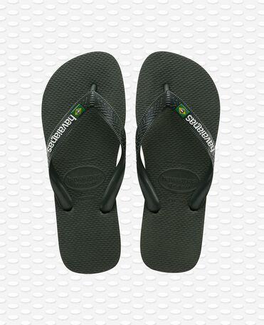 Havaianas Brasil Logo - Green olive - Flip flops