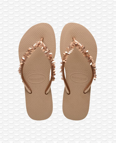Havaianas Slim Leaves - Rose Gold - Flip Flops - Women