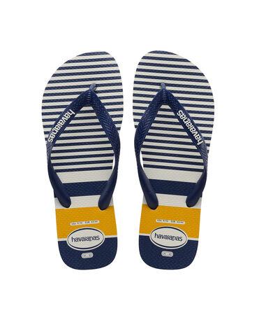 Havaianas Top Nautical - flip-flops - WHITE/NAVY/YELLOW - hombre