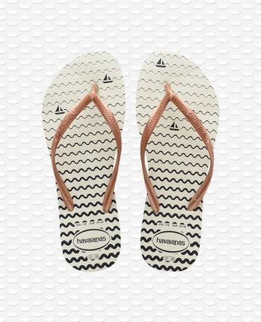 Havaianas Slim Oceano - Flip flops - Weiß - Damen