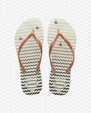 Havaianas Slim Oceano - White Flip flops Women