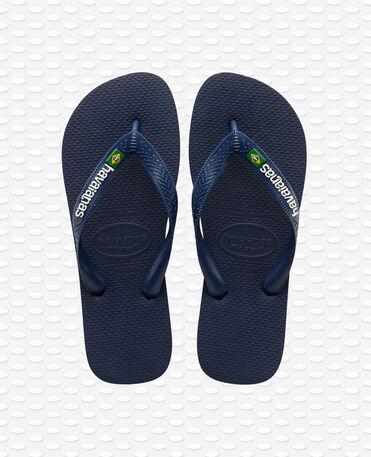 Havaianas Brasil Logo - Tongs - bleu marine