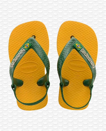 Havaianas Baby Brasil Logo II - Infradito - Giallo banana - Bambini