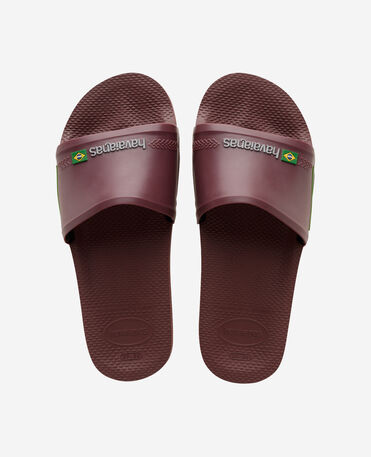 Havaianas Slide Brasil - flip-flops - GRAPE WINE - unisex