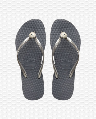 Havaianas Slim Crystal Poem - Steel Grey / Grey - Flip Flops - Women