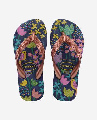 Havaianas Kids Flores - flip-flops - DARK BLUE/GOLD - unisex